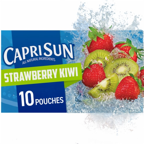 Capri Sun Strawberry Kiwi Flavored Juice Drink Blend Pouches Perspective: front