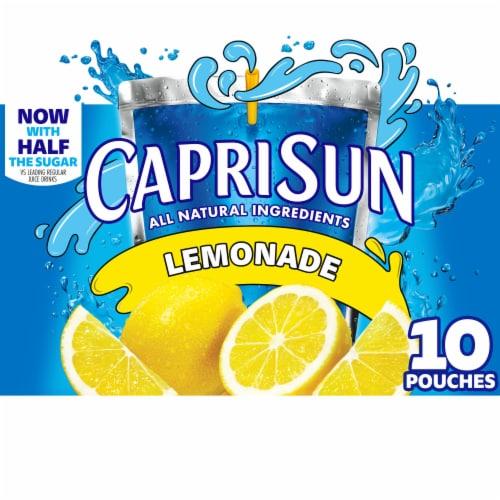 Capri Sun Lemonade Pouches Perspective: front