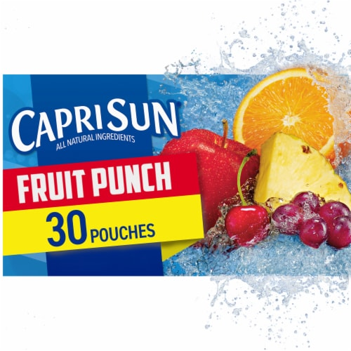 Capri Sun Fruit Punch Flavored Juice Drink Blend Pouches Perspective: front