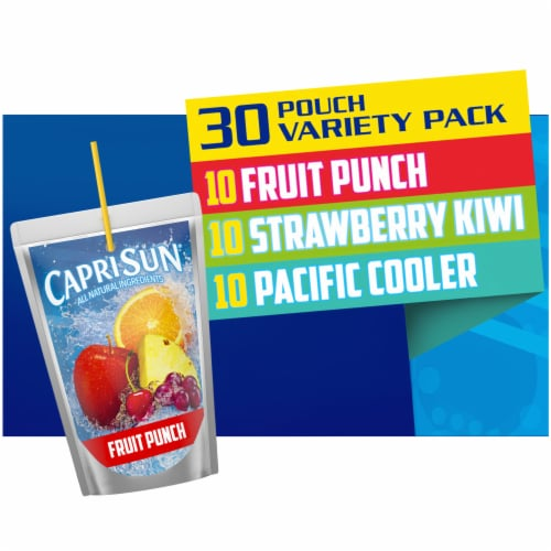 Capri Sun Juice Drink Blend Pouch Variety Pack Perspective: front