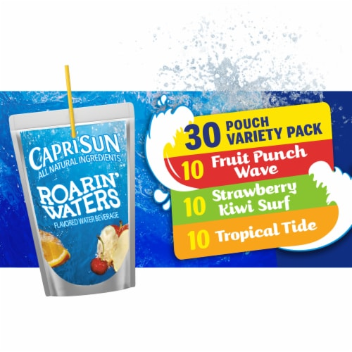 Capri Sun Roarin' Waters Flavored Water Beverages Variety Pack Perspective: front