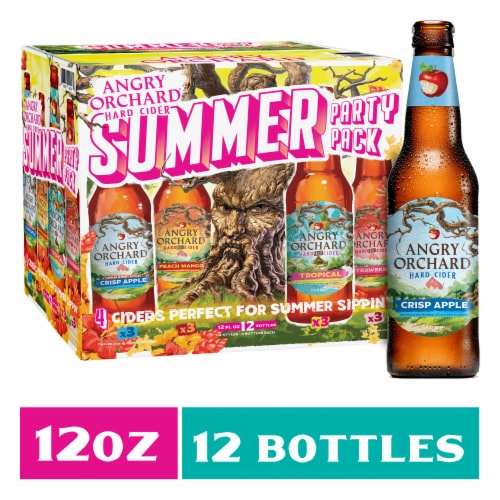 Angry Orchard Harvest Mix Hard Cider Variety Pack Perspective: front