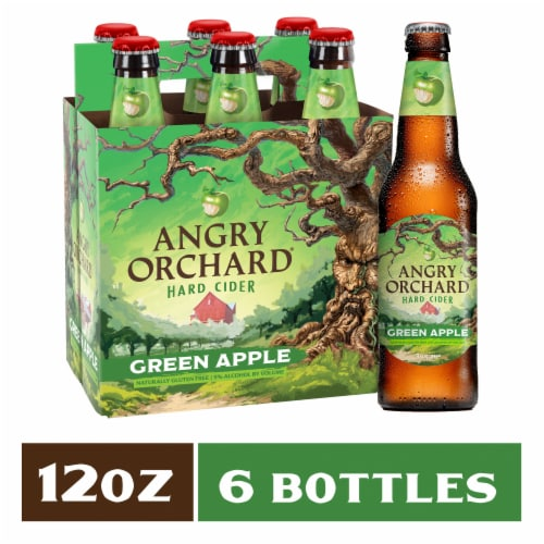 Angry Orchard Green Apple Cider Perspective: front