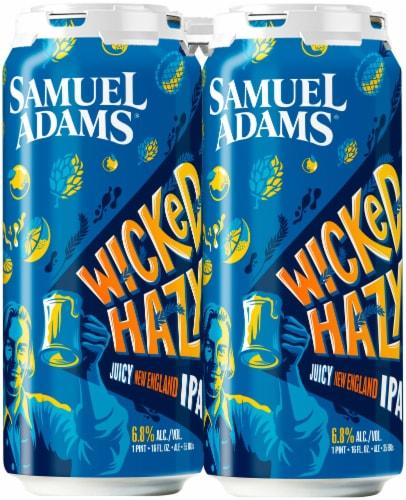 Samuel Adams Wicked Hazy New England IPA Beer Perspective: front