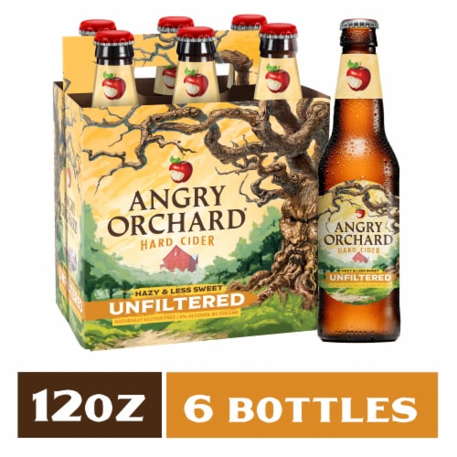 Angry Orchard Crisp Apple Unfiltered Hard Cider Perspective: front