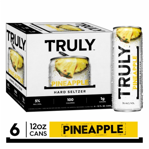 Truly Pineapple Hard Seltzer Perspective: front
