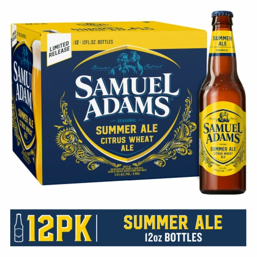 Samuel Adams Cold Snap White Ale Perspective: front