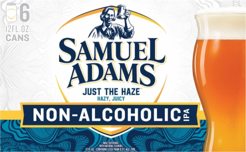Samuel Adams Just the Haze Non-Alcoholic IPA Perspective: front