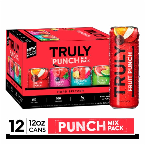 Truly Punch Hard Seltzer Variety Pack Perspective: front