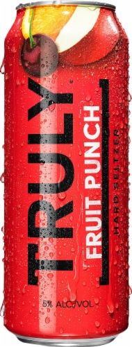 Truly Fruit Punch Hard Seltzer Perspective: front