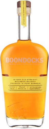Boondocks Straight Bourbon Whiskey Perspective: front