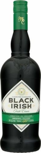 Black Irish Original Irish Cream Liqueur Perspective: front