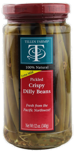 Tillen Farms Pickled Dilly Beans Perspective: front