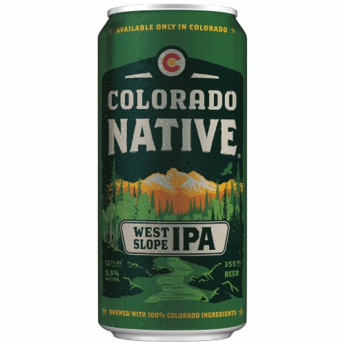 Colorado Native West Slope IPA Craft Beer Perspective: front