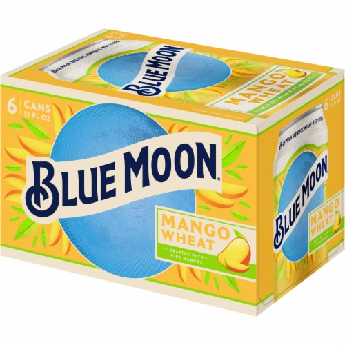 Blue Moon Mango Wheat Beer Perspective: front