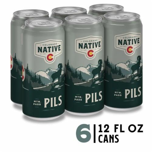 Colorado Native Pilsner Perspective: front