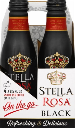 Stella Rosa Black Aluminum Singles Wine Perspective: front