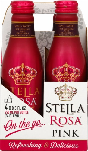 Stella Rosa Pink Wine Perspective: front