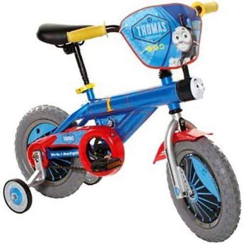 Thomas & Friends Kid's 12 Inch Beginner Bike w/Training Wheels, Thomas the Train Perspective: front