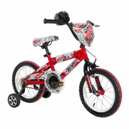 Dynacraft Hot Wheels® Beginner BMX Bike - Red/Black Perspective: front