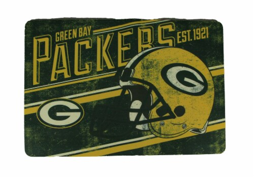 Green Bay Packers 20 By 30 Inch Non-Skid Officially Licensed Anti Fatigue Mat Perspective: front