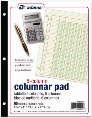 Adams 6-Column Columnar Pad - 50 Sheets Perspective: front