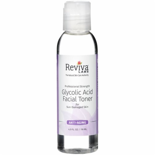Reviva Labs Anti-Aging Glycolic Acid Facial Toner Perspective: front