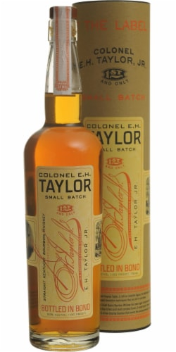 E. H. Taylor Jr. Small Batch Straight Kentucky Bourbon Whiskey Perspective: front