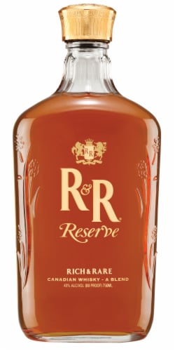 Rich & Rare Reserve Canadian Whisky Perspective: front