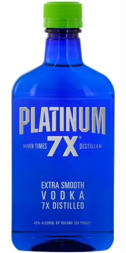 Platinum 7X Distilled Extra Smooth Vodka Perspective: front