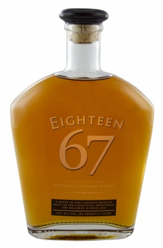 Eighteen 67 Master Distilled Blended Canadian Whisky Perspective: front
