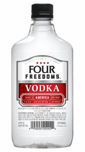 Four Freedoms Vodka Perspective: front