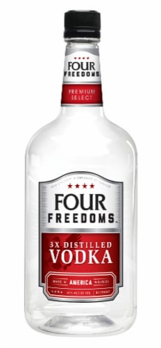 Four Freedoms 3X Distilled Vodka Perspective: front