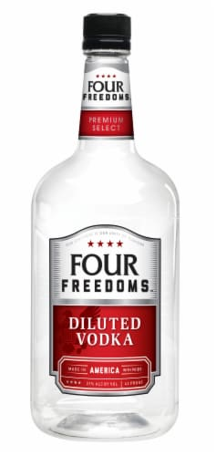 Four Freedoms Diluted Vodka Perspective: front