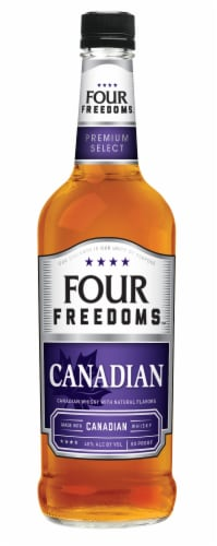 Four Freedoms Canadian Whisky Perspective: front