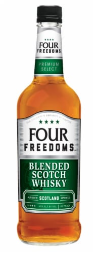 Four Freedoms Premium Select Blended Scotch Whisky Perspective: front