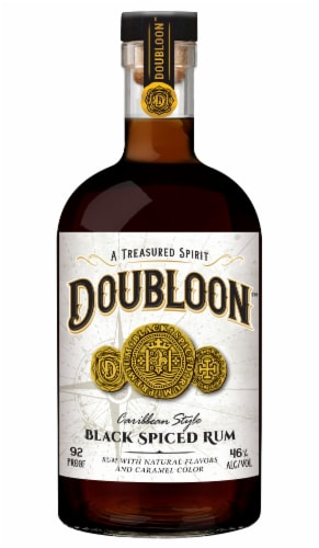 Doubloon Black Spiced Rum Perspective: front