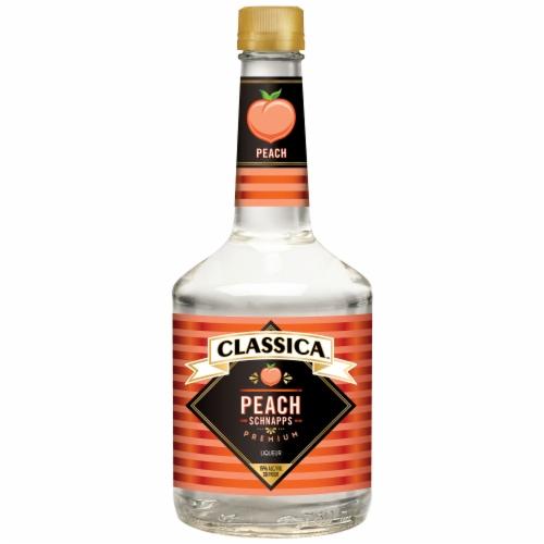 Classica Peach Schnapps Liqueur Perspective: front