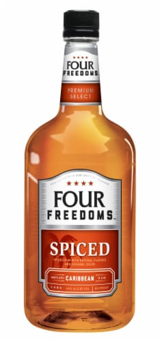 Four Freedoms Spiced Rum Perspective: front