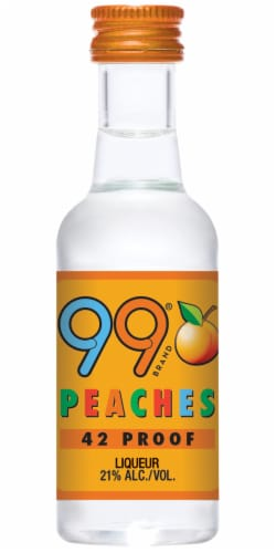 99 Brand Peach Flavored Liqueur Perspective: front