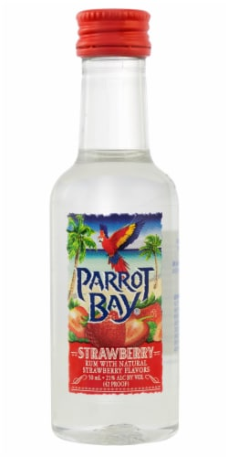 Parrot Bay Strawberry Flavored Rum Perspective: front