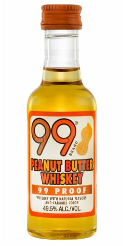 99 Brand Peanut Butter Flavored Whiskey Perspective: front