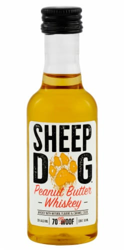 Sheep Dog Peanut Butter Whiskey Perspective: front