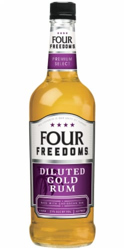Four Freedoms Diluted Gold Rum Perspective: front