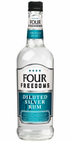 Four Freedoms Diluted Silver Rum Perspective: front