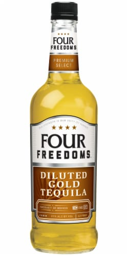 Four Freedoms Diluted Gold Tequila Perspective: front