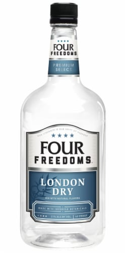 Four Freedoms London Dry Gin Perspective: front