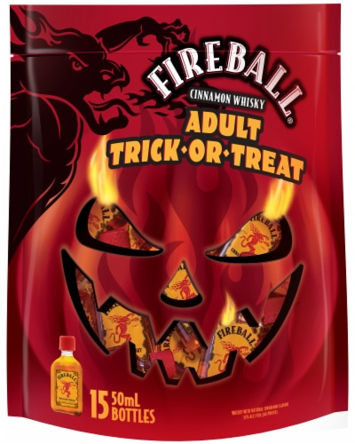 Fireball Adult Trick-Or-Treat Cinnamon Whisky Perspective: front