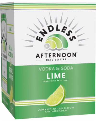 Endless Summer Afternoon Lime Vodka and Soda Perspective: front