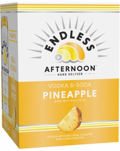 Endless Summer Afternoon Pineapple Vodka Soda Perspective: front